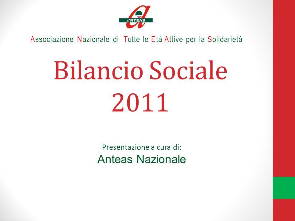 Bilancio Sociale 2011 Associazione Nazionale di Tutte le Età Attive per la Solidarietà Presentazione a cura di: Anteas Nazionale