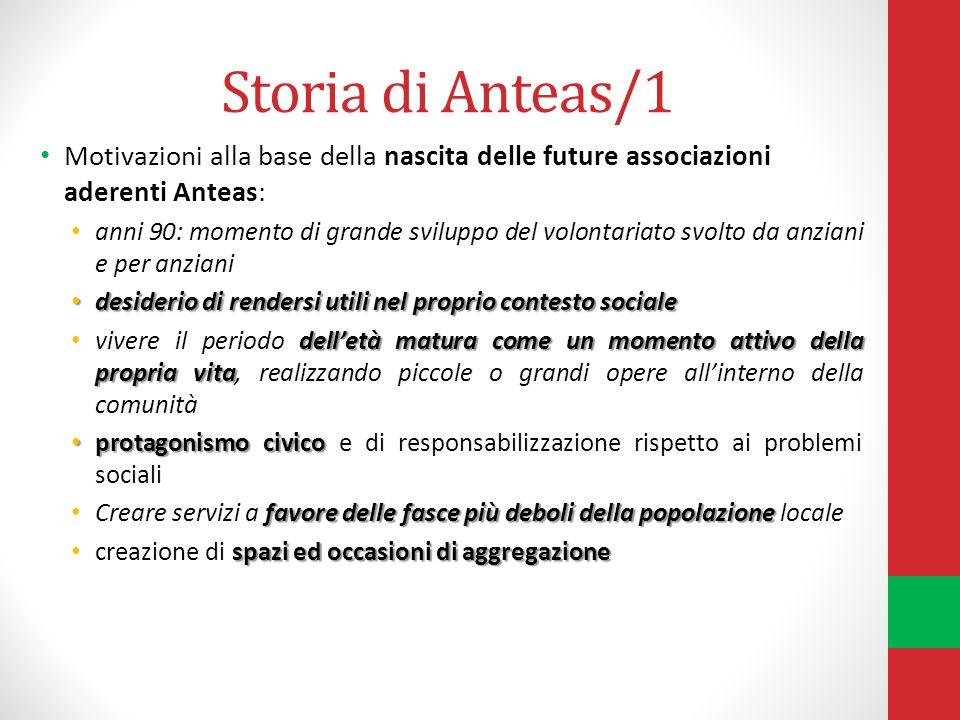 Storia di Anteas/1 Motivazioni alla base della nascita delle future associazioni aderenti Anteas: anni 90: momento di grande sviluppo del volontariato
