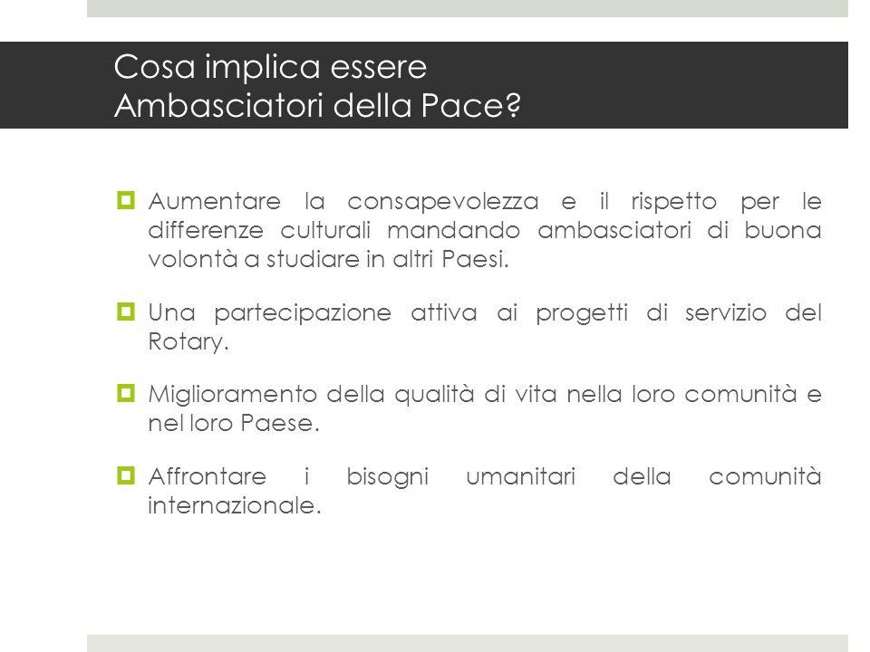 Cosa implica essere Ambasciatori della Pace? Aumentare la consapevolezza e il rispetto per le differenze culturali mandando ambasciatori di buona volo
