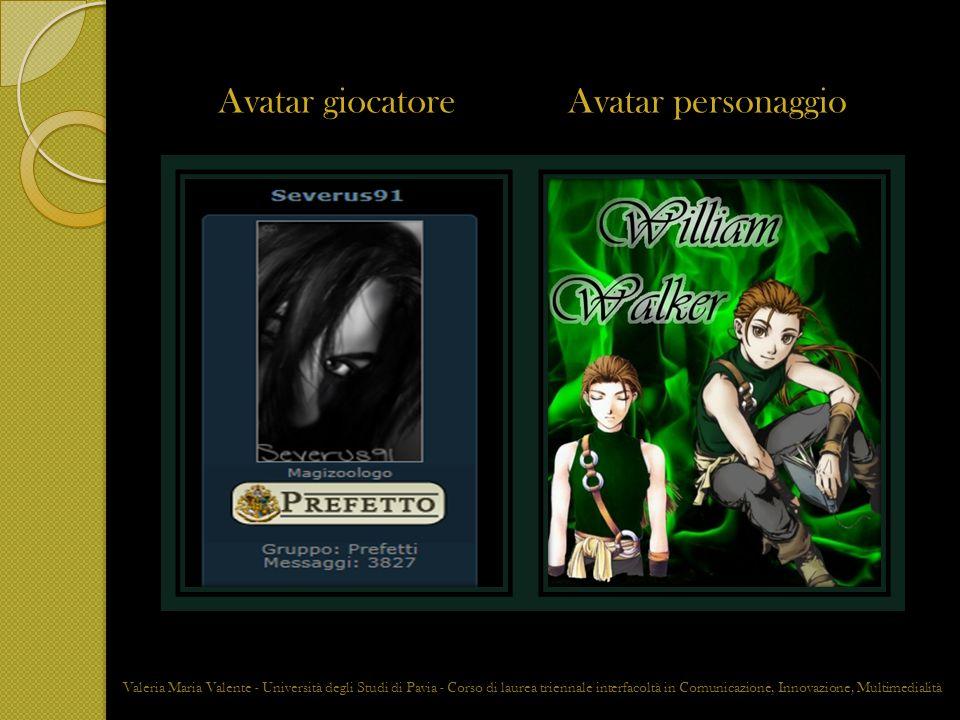 Avatar giocatoreAvatar personaggio Valeria Maria Valente - Università degli Studi di Pavia - Corso di laurea triennale interfacoltà in Comunicazione,