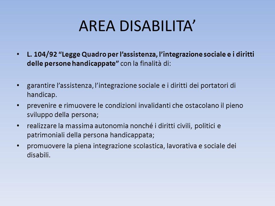 IL SISTEMA INTEGRATO DEI SERVIZI Legge 328/00 art.14.