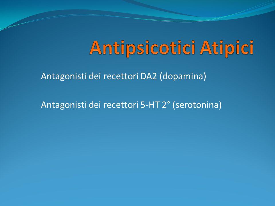 Antagonisti dei recettori DA2 (dopamina) Antagonisti dei recettori 5-HT 2° (serotonina)