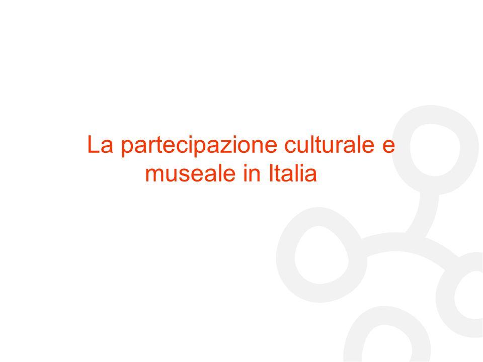 La partecipazione culturale e museale in Italia