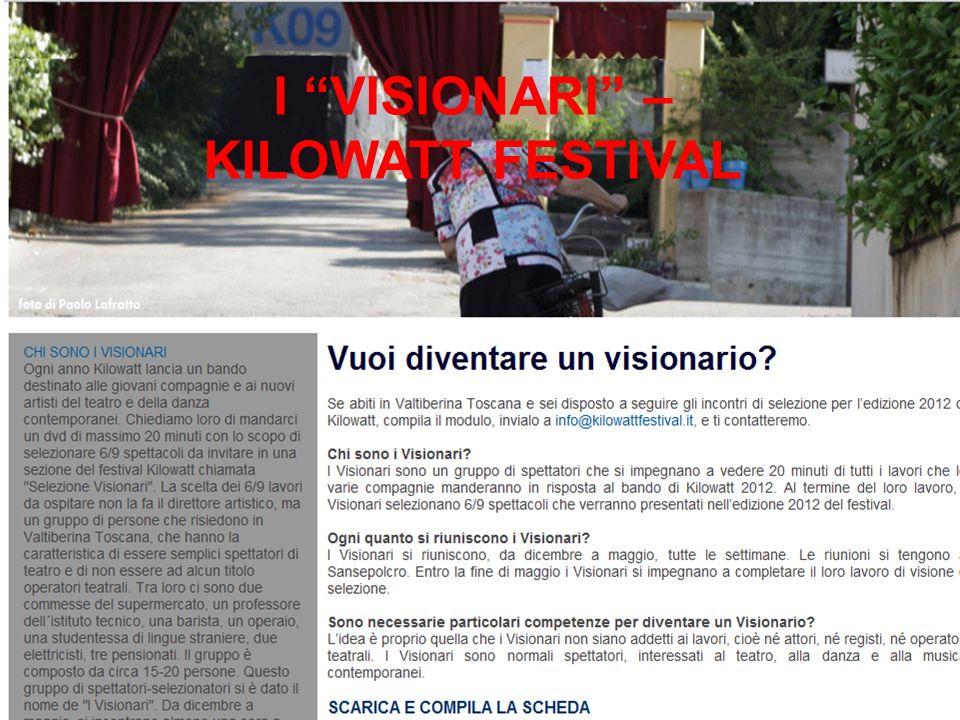 I VISIONARI – KILOWATT FESTIVAL