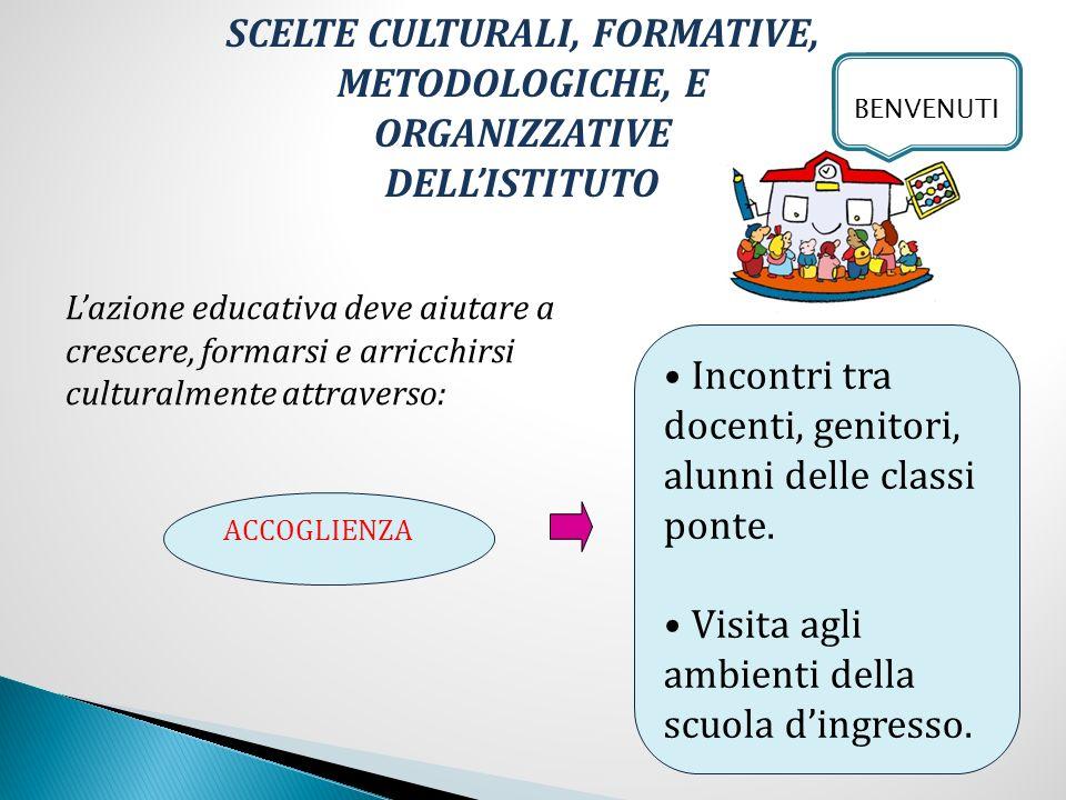 CONTINUITÀ Organizzazione di percorsi didattici comuni.
