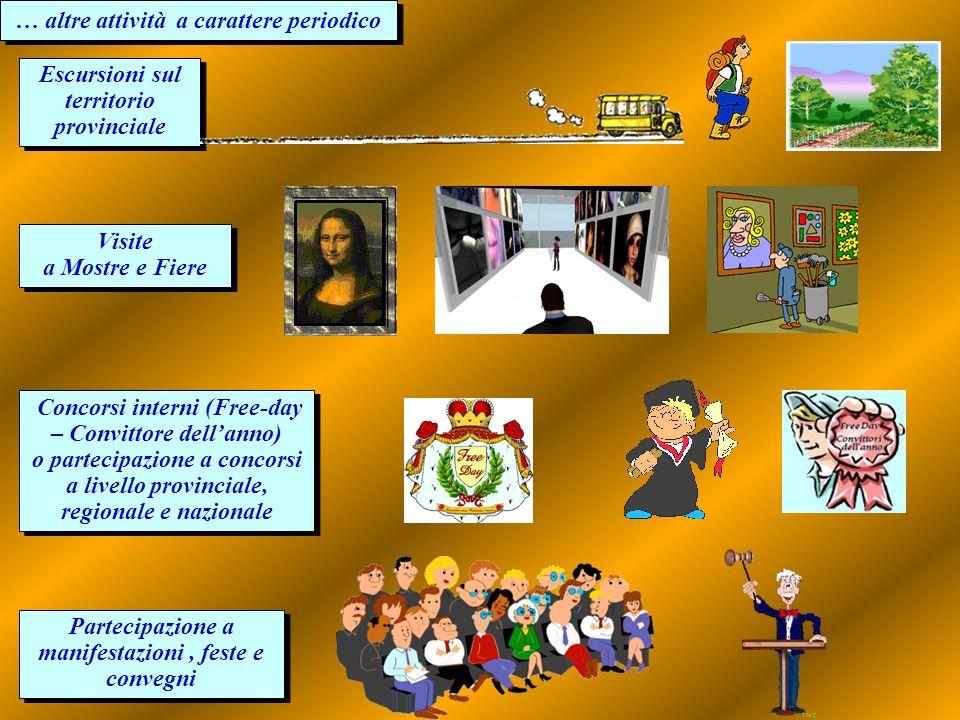 … altre attività a carattere periodico … altre attività a carattere periodico Visite a Mostre e Fiere Visite a Mostre e Fiere Partecipazione a manifes