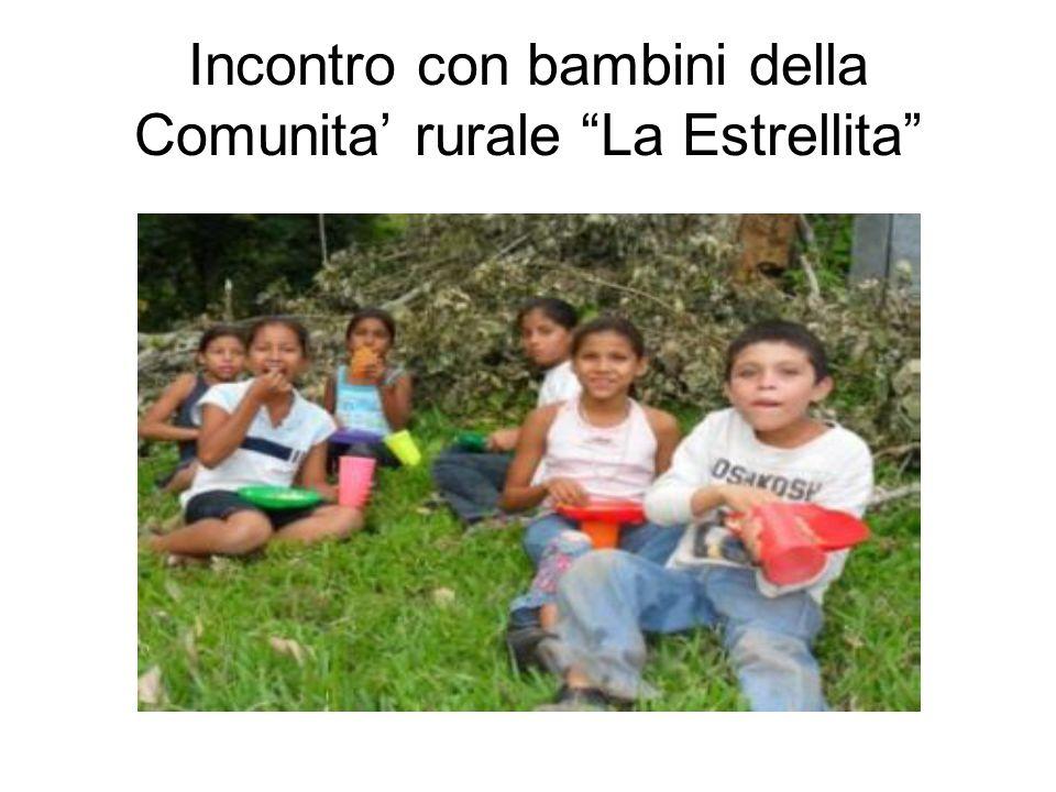 Incontro con bambini della Comunita rurale La Estrellita