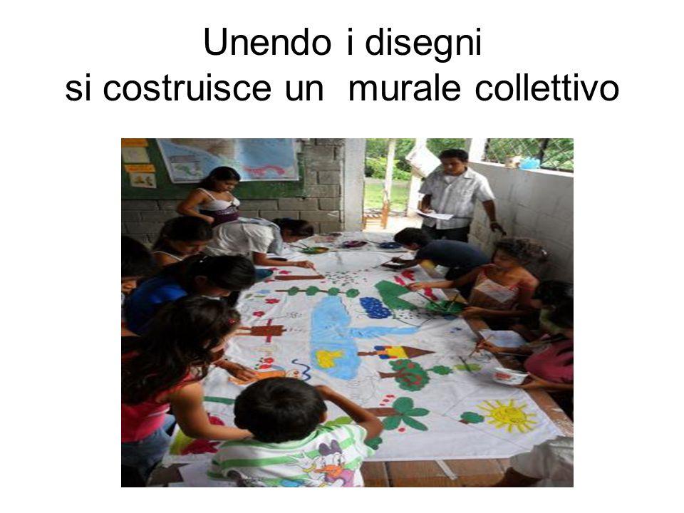 Unendo i disegni si costruisce un murale collettivo