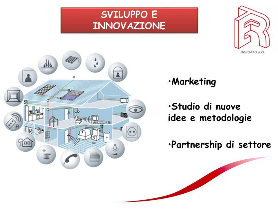 SVILUPPO E INNOVAZIONE Marketing Studio di nuove idee e metodologie Partnership di settore