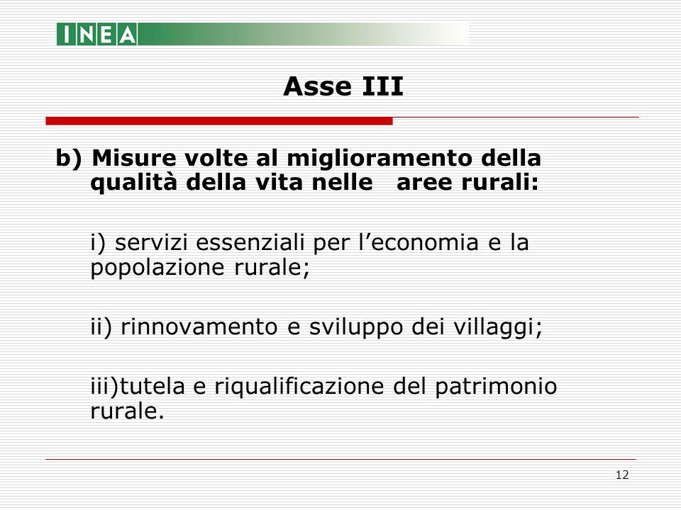 12 b) Misure volte al miglioramento della qualità della vita nelle aree rurali: i) servizi essenziali per leconomia e la popolazione rurale; ii) rinno