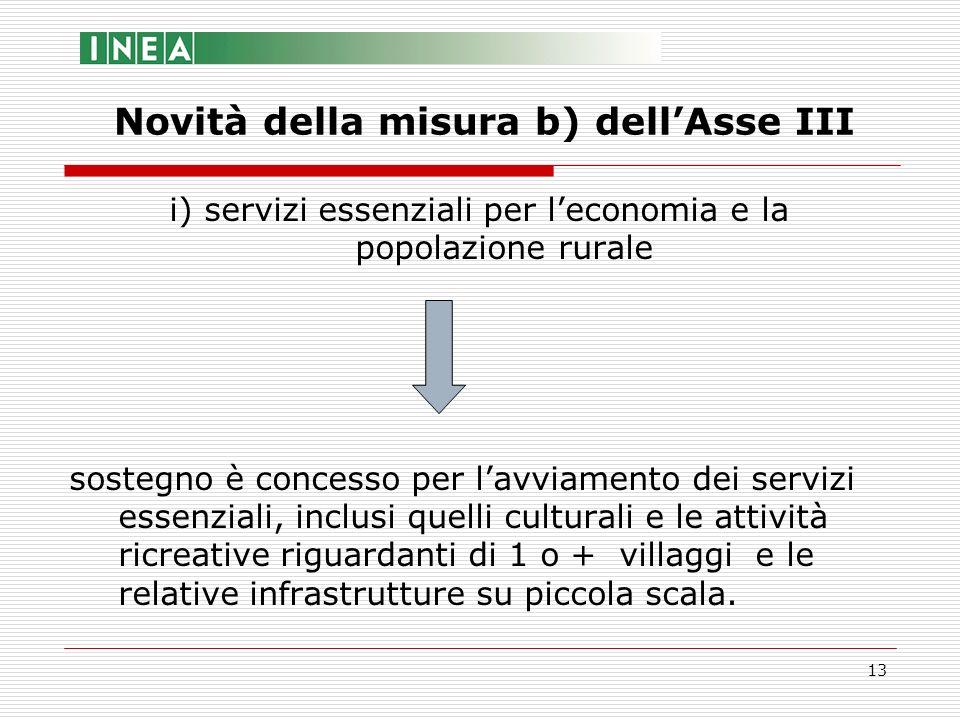 13 i) servizi essenziali per leconomia e la popolazione rurale sostegno è concesso per lavviamento dei servizi essenziali, inclusi quelli culturali e