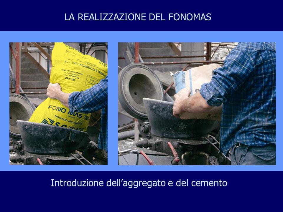 Introduzione dellaggregato e del cemento LA REALIZZAZIONE DEL FONOMAS