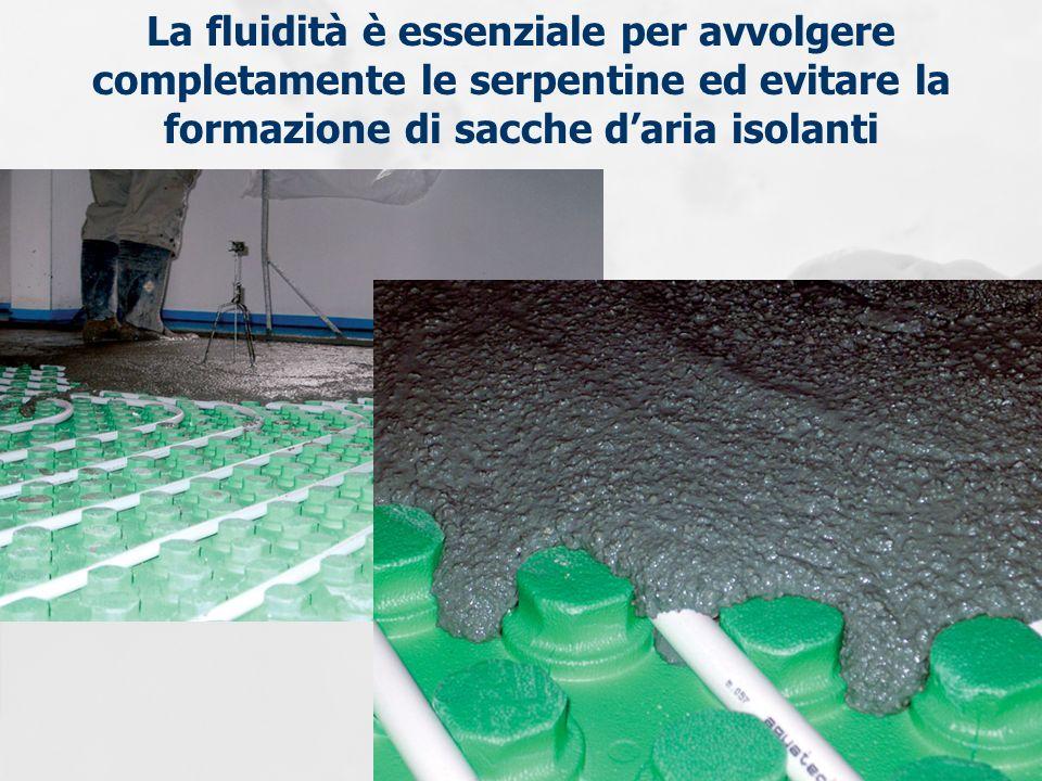 La fluidità è essenziale per avvolgere completamente le serpentine ed evitare la formazione di sacche daria isolanti