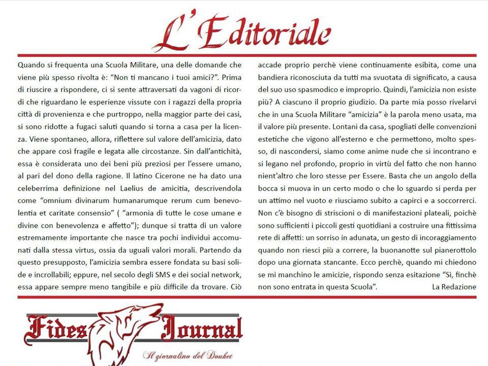 SCUOLA MILITARE AERONAUTICA GIULIO DOUHET PER SCIENTIAM AD ASTRA Comandante / Dirigente Scolastico Col.