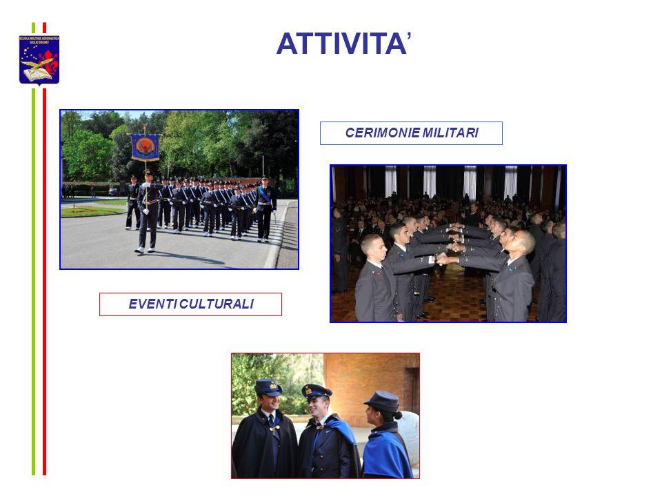 ATTIVITA CERIMONIE MILITARI EVENTI CULTURALI