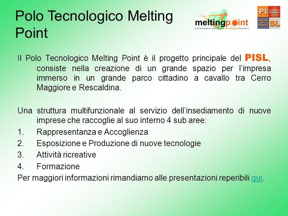 Il Polo Tecnologico Melting Point è il progetto principale del PISL, consiste nella creazione di un grande spazio per limpresa immerso in un grande pa