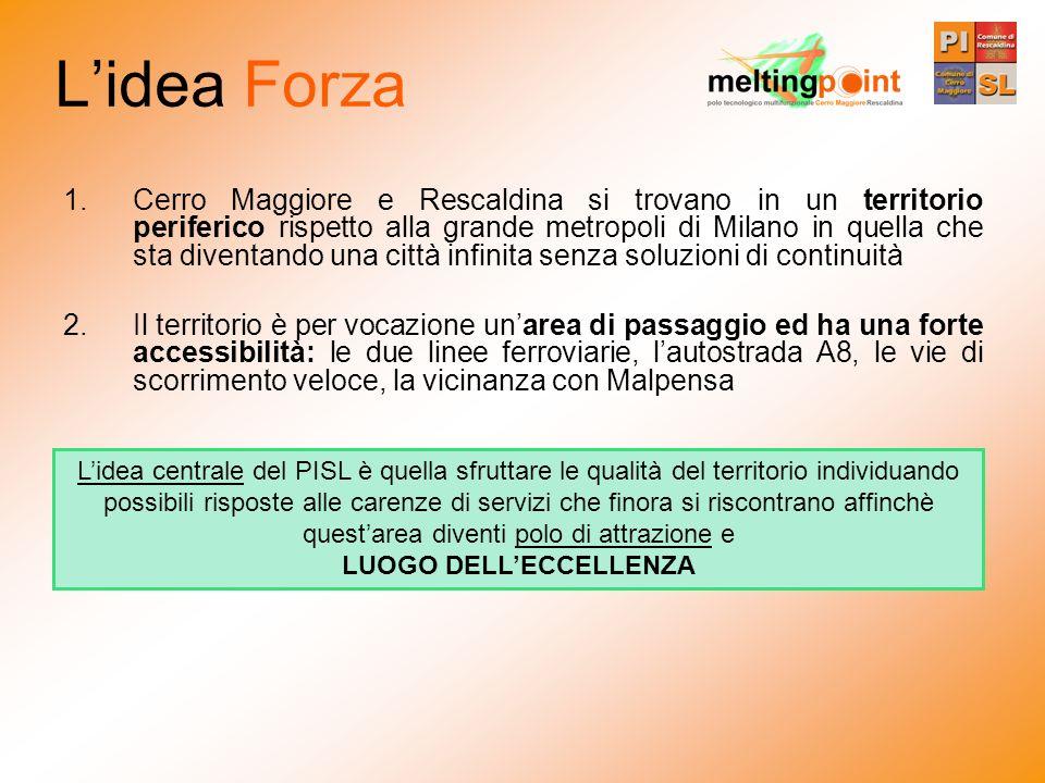Lidea Forza 1.Cerro Maggiore e Rescaldina si trovano in un territorio periferico rispetto alla grande metropoli di Milano in quella che sta diventando