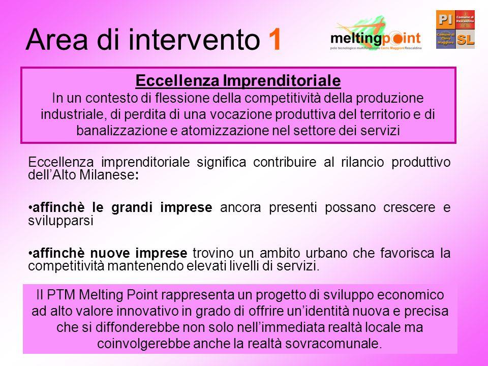 Eccellenza imprenditoriale significa contribuire al rilancio produttivo dellAlto Milanese: affinchè le grandi imprese ancora presenti possano crescere