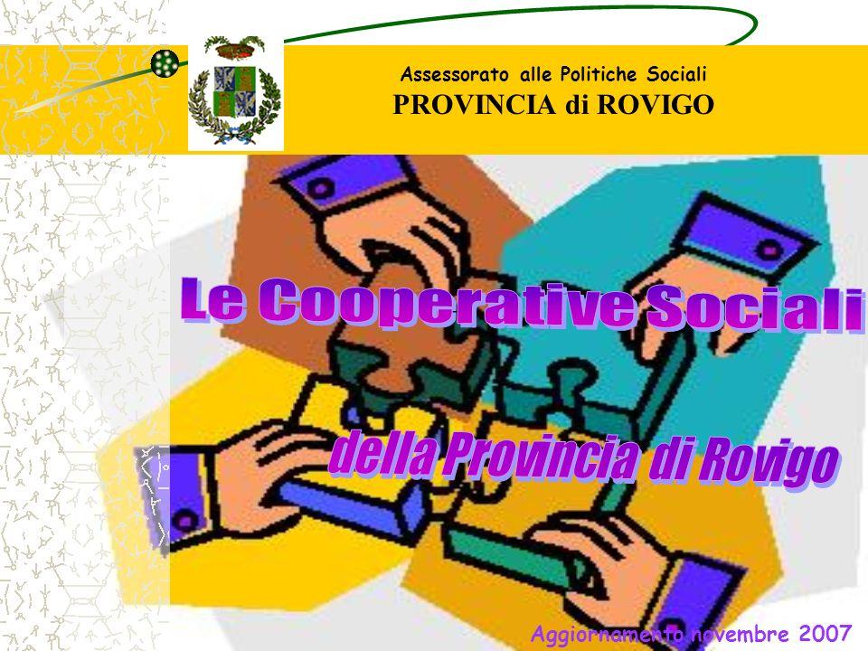 Assessorato alle Politiche Sociali PROVINCIA di ROVIGO Aggiornamento novembre 2007