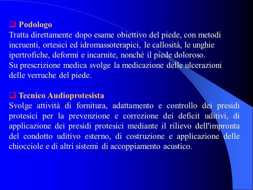 Ortottista Su prescrizione del medico, tratta i disturbi motori e sensoriali della visione ed effettua le tecniche di semeiologia strumentale- oftalmologica.