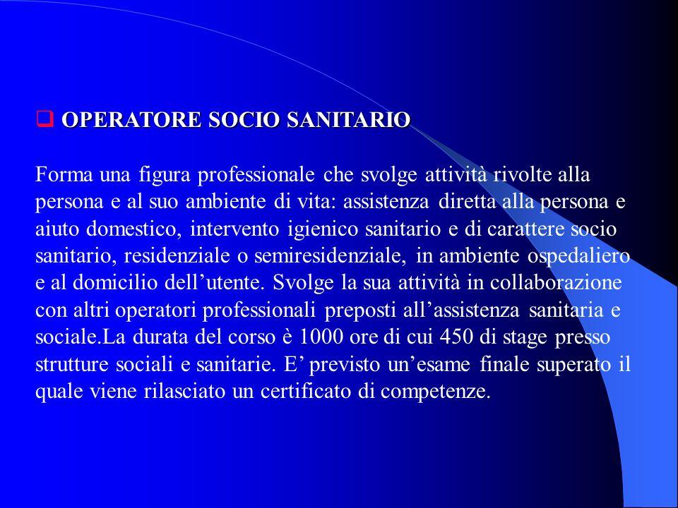 SCUOLA PER ASSISTENTE SANITARIO NATUROPATA E una scuola triennale di 900 ore che ha sede a Bologna, via Degli Albari 6, tel. 051/ 235643. Forma un ope