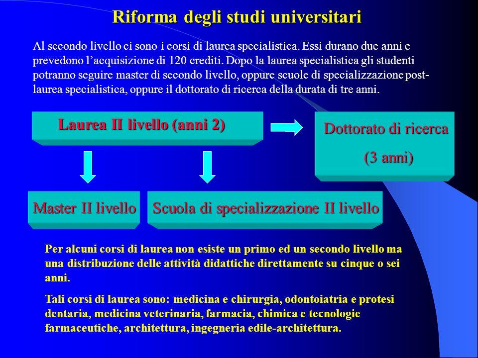 Riforma degli studi universitari La riforma universitaria cambia il sistema degli studi universitari italiano secondo un modello concordato con gli altri paesi dellUnione Europea.