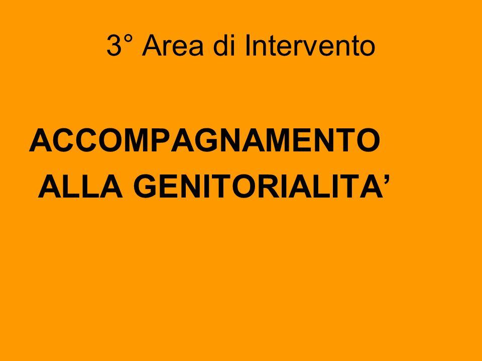 3° Area di Intervento ACCOMPAGNAMENTO ALLA GENITORIALITA