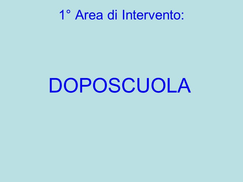1° Area di Intervento: DOPOSCUOLA