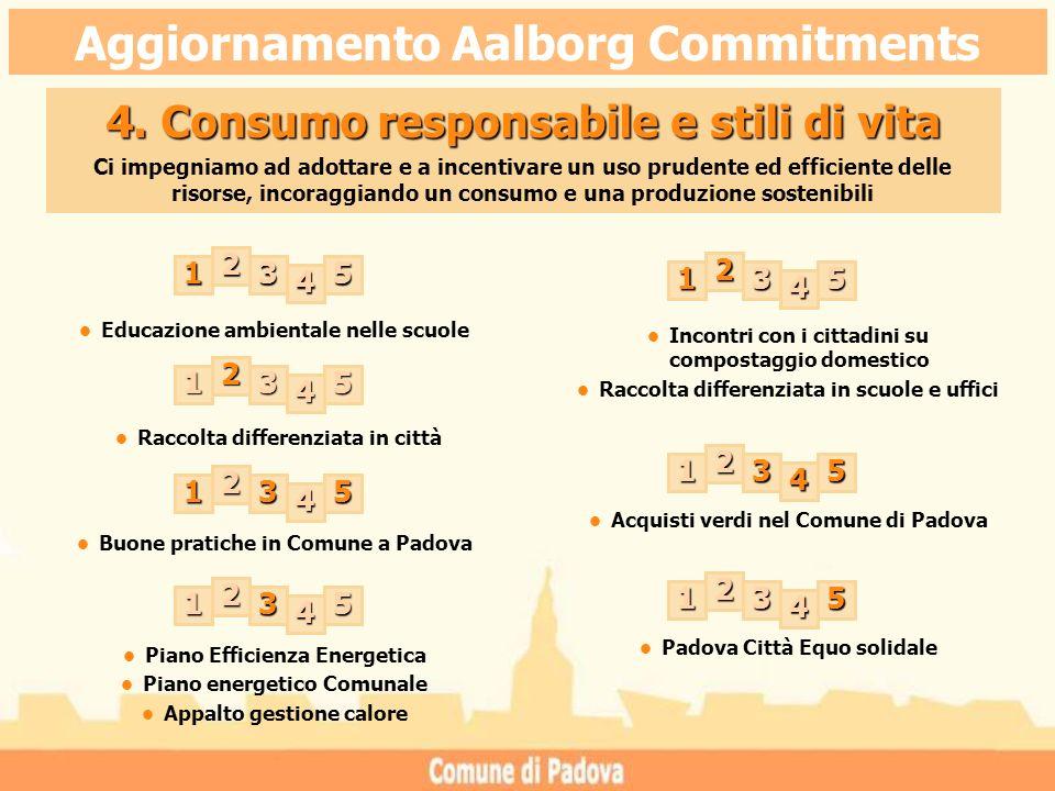 Educazione ambientale nelle scuole Acquisti verdi nel Comune di Padova Buone pratiche in Comune a Padova 4.