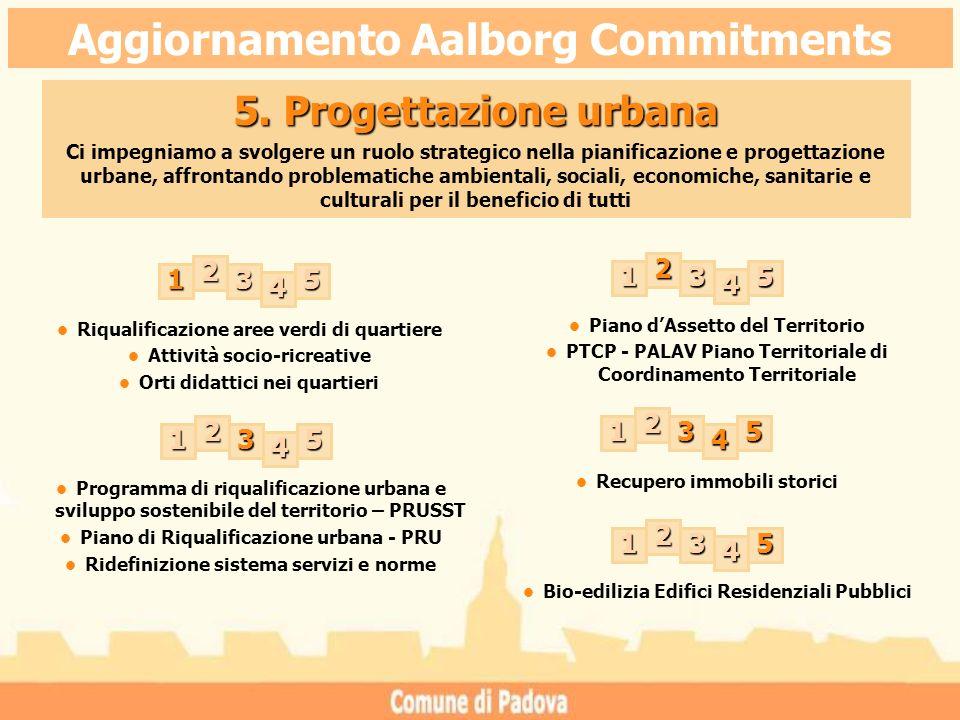 Riqualificazione aree verdi di quartiere Attività socio-ricreative Orti didattici nei quartieri Recupero immobili storici 5.