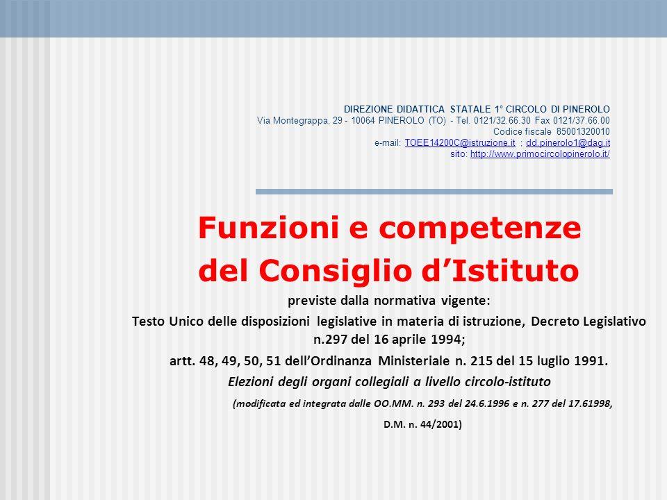 DIREZIONE DIDATTICA STATALE 1° CIRCOLO DI PINEROLO Via Montegrappa, 29 - 10064 PINEROLO (TO) - Tel. 0121/32.66.30 Fax 0121/37.66.00 Codice fiscale 850