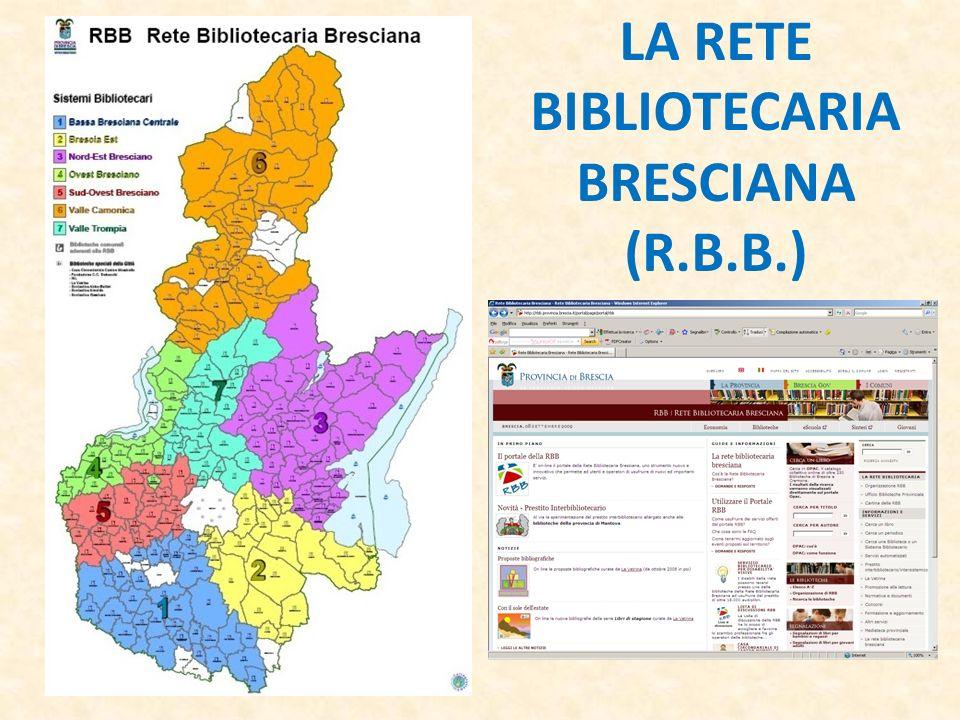 LA RETE BIBLIOTECARIA BRESCIANA (R.B.B.)