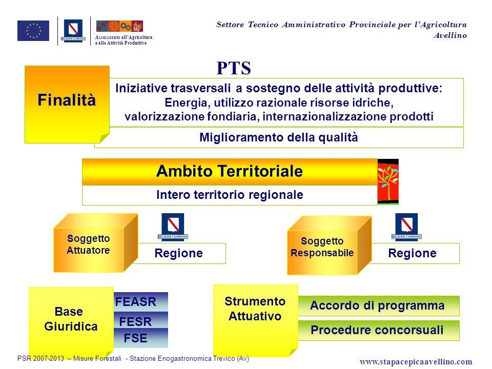 Regione Procedure concorsuali Accordo di programma FESR FSE Regione FEASR PTS Assessorato allAgricoltura e alle Attività Produttive Iniziative trasver