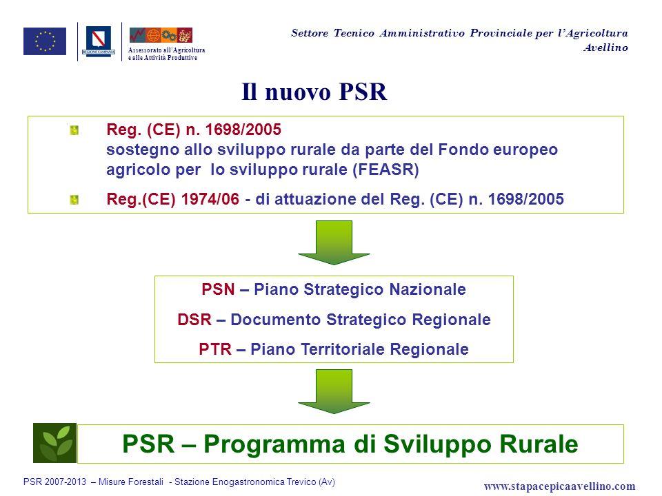 Il nuovo PSR Reg. (CE) n. 1698/2005 sostegno allo sviluppo rurale da parte del Fondo europeo agricolo per lo sviluppo rurale (FEASR) Reg.(CE) 1974/06
