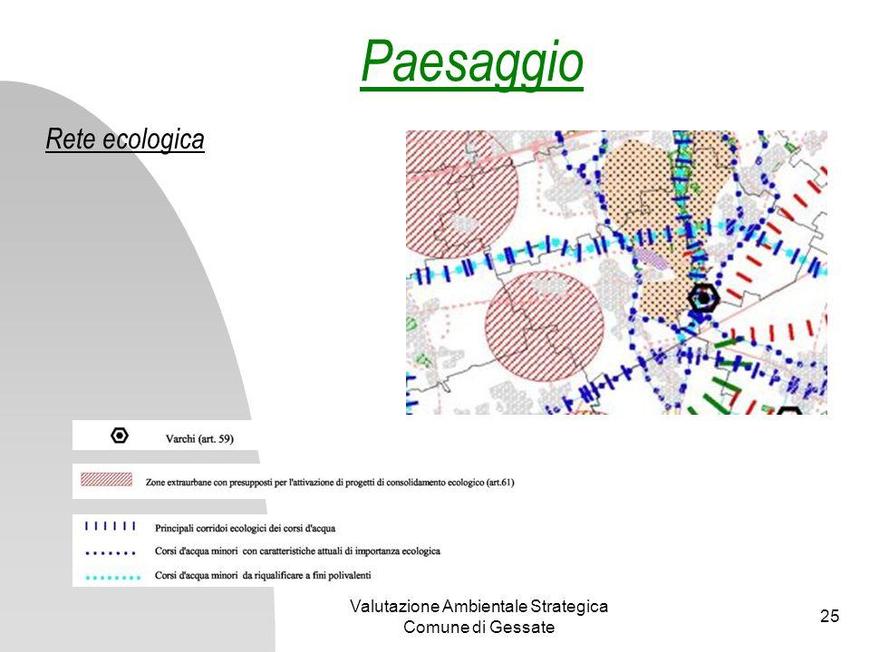Valutazione Ambientale Strategica Comune di Gessate 25 Rete ecologica Paesaggio