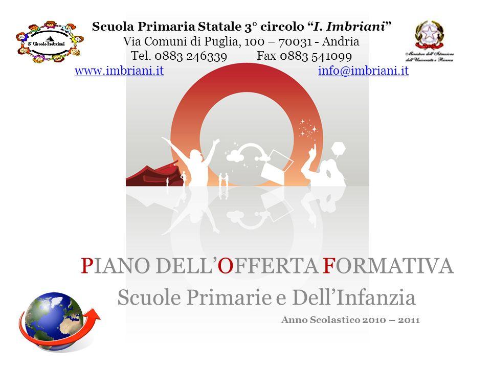 Scuola Primaria Statale 3° circolo I. Imbriani Via Comuni di Puglia, 100 – 70031 - Andria Tel. 0883 246339 Fax 0883 541099 www.imbriani.it info@imbria