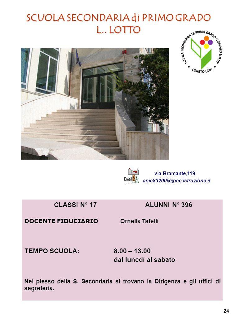 SCUOLA SECONDARIA di PRIMO GRADO L..