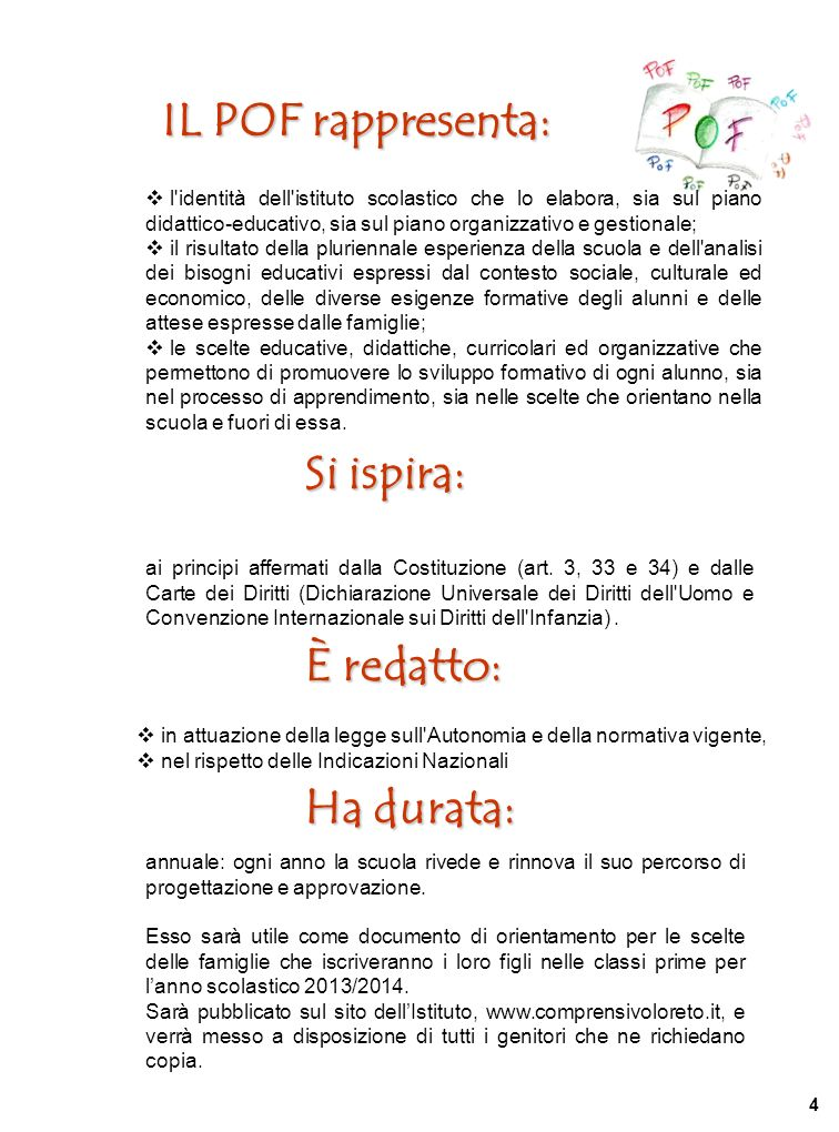 PRESENTAZIONE LIstituto Comprensivo Statale di Loreto nasce con Decreto del Provveditore agli Studi di Ancona prot.