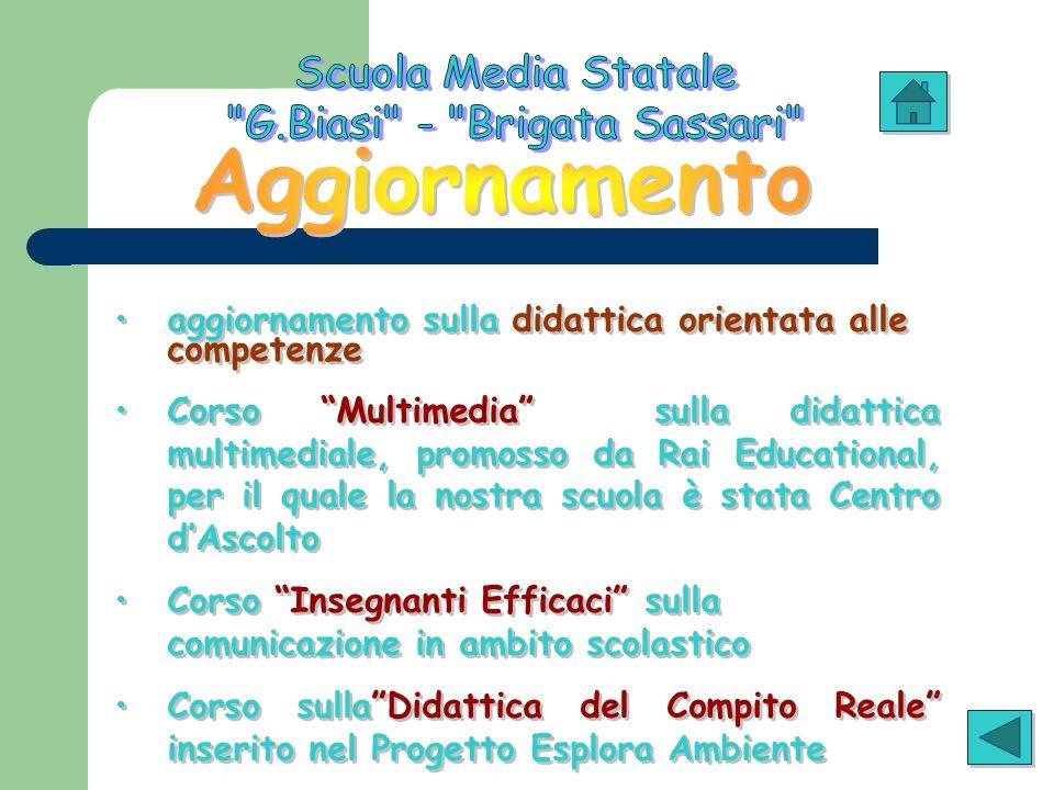 aggiornamento sulla didattica orientata alle competenze Corso Multimedia sulla didattica multimediale, promosso da Rai Educational, per il quale la no