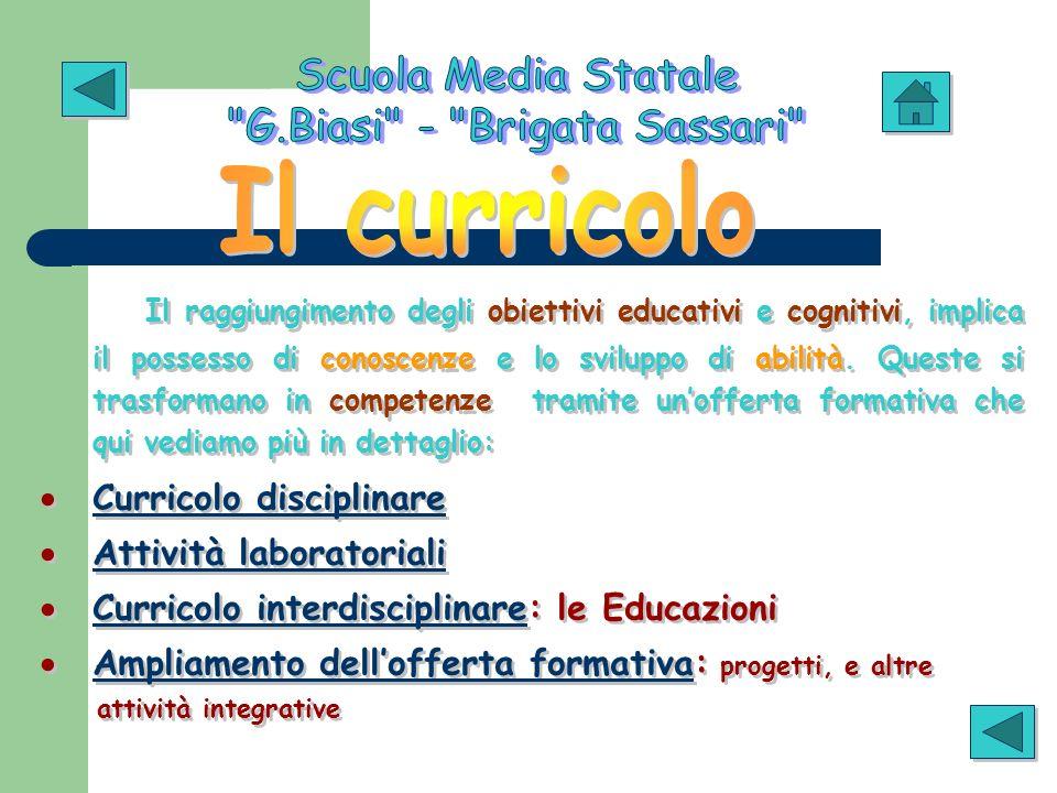 Il raggiungimento degli obiettivi educativi e cognitivi, implica il possesso di conoscenze e lo sviluppo di abilità. Queste si trasformano in competen