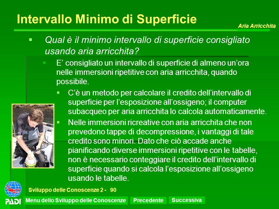 Precedente Successiva Aria Arricchita Sviluppo delle Conoscenze 2 -90 Intervallo Minimo di Superficie Qual è il minimo intervallo di superficie consig