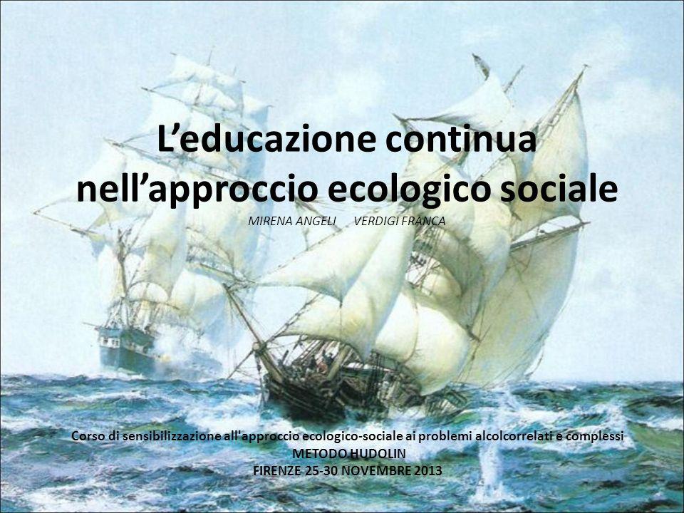 Leducazione continua nellapproccio ecologico sociale MIRENA ANGELI VERDIGI FRANCA Corso di sensibilizzazione all'approccio ecologico-sociale ai proble