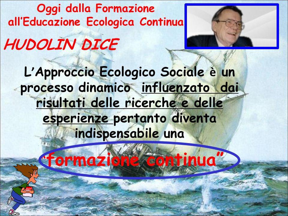 HUDOLIN DICE L Approccio Ecologico Sociale è un processo dinamico influenzato dai risultati delle ricerche e delle esperienze pertanto diventa indispensabile una formazione continua Oggi dalla Formazione allEducazione Ecologica Continua