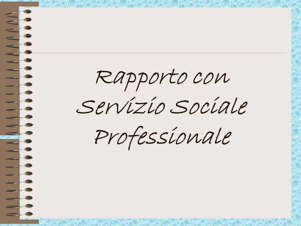 Rapporto con Servizio Sociale Professionale