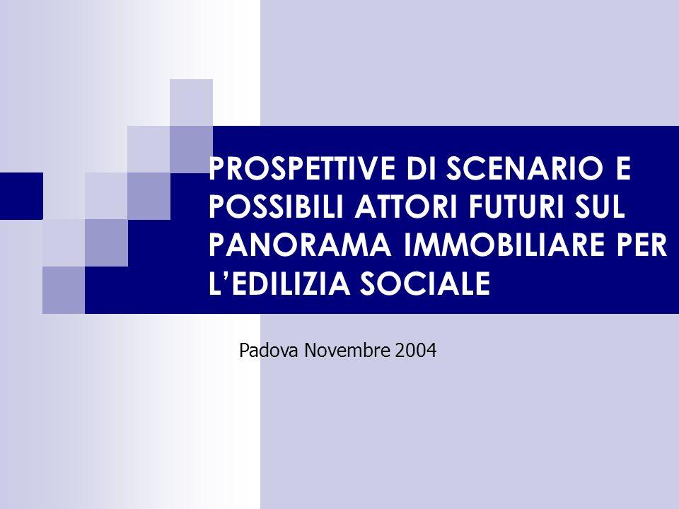 PROSPETTIVE DI SCENARIO E POSSIBILI ATTORI FUTURI SUL PANORAMA IMMOBILIARE PER LEDILIZIA SOCIALE Padova Novembre 2004