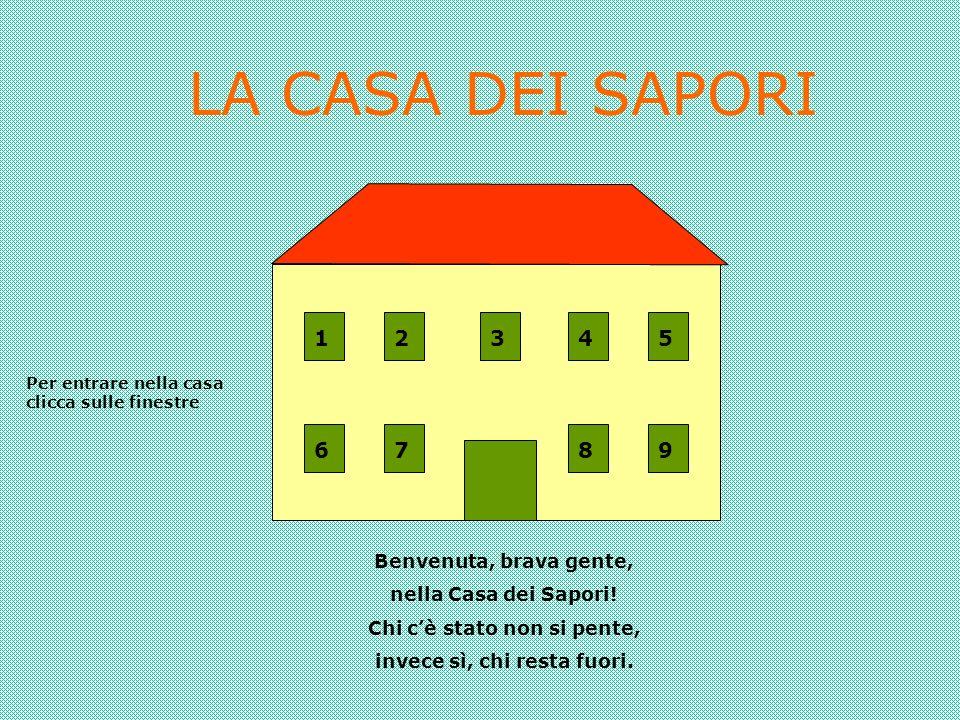 LA CASA DEI SAPORI Benvenuta, brava gente, nella Casa dei Sapori.