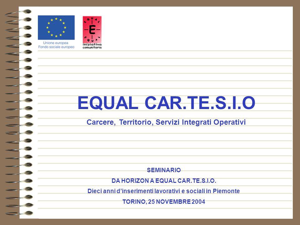 EQUAL CAR.TE.S.I.O Carcere, Territorio, Servizi Integrati Operativi SEMINARIO DA HORIZON A EQUAL CAR.TE.S.I.O.
