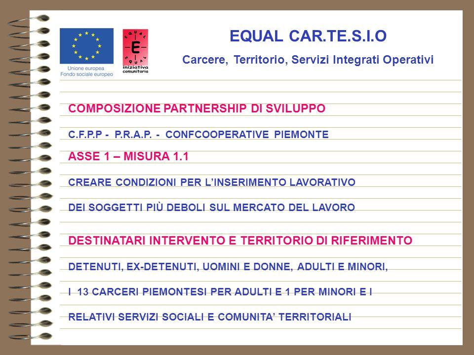 EQUAL CAR.TE.S.I.O Carcere, Territorio, Servizi Integrati Operativi COMPOSIZIONE PARTNERSHIP DI SVILUPPO C.F.P.P - P.R.A.P.
