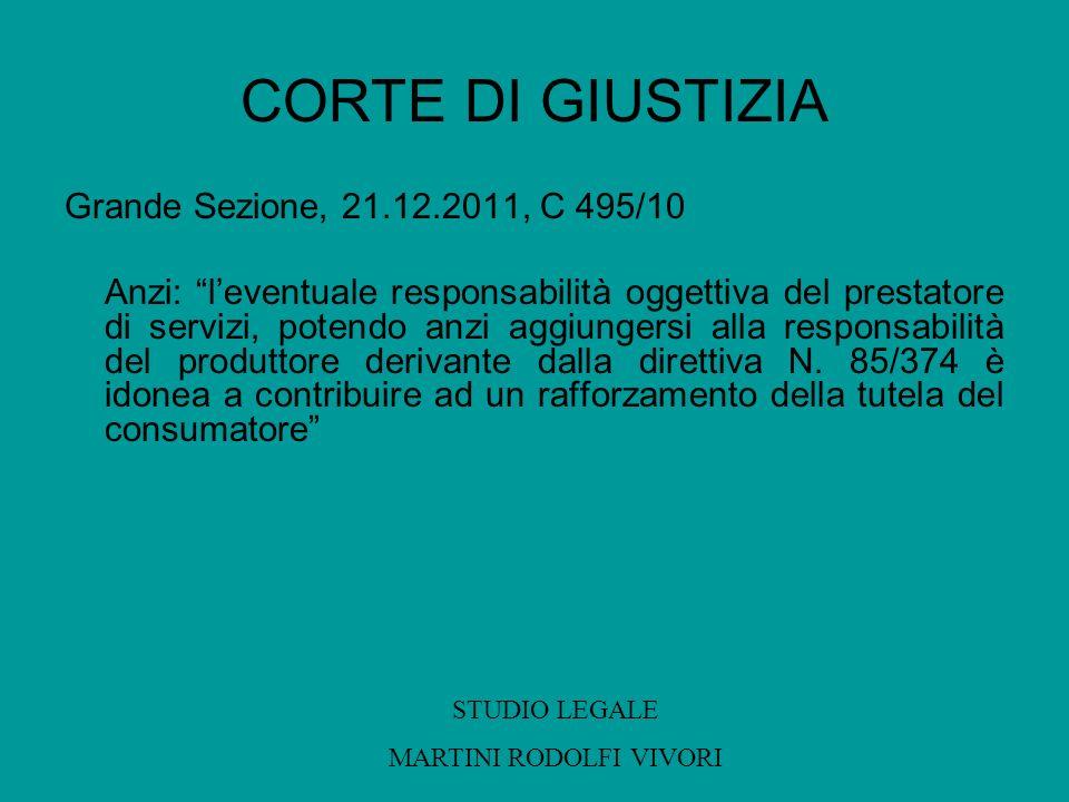 CORTE DI GIUSTIZIA Grande Sezione, 21.12.2011, C 495/10 Anzi: leventuale responsabilità oggettiva del prestatore di servizi, potendo anzi aggiungersi