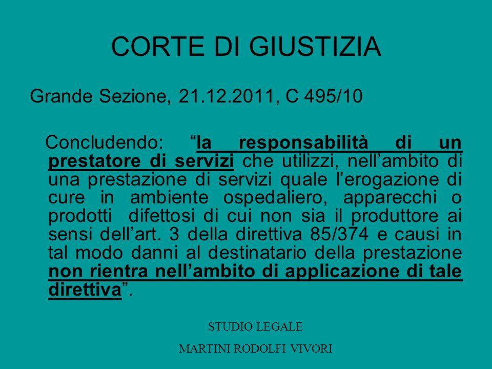 CORTE DI GIUSTIZIA Grande Sezione, 21.12.2011, C 495/10 Concludendo: la responsabilità di un prestatore di servizi che utilizzi, nellambito di una pre